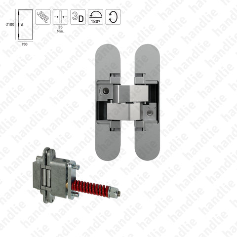 D.680.3D - 3D Concealed hinge - With spring