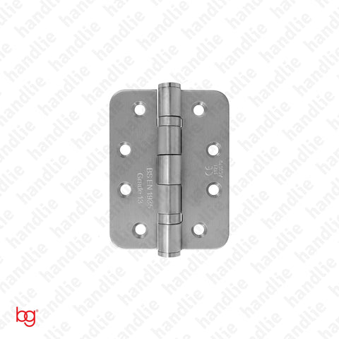 D.8182.R - Butt hinge with round leaves - Fire resistant - Stainless Steel