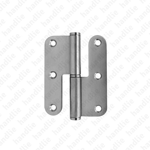 D.8314AR - Hinge with round leaves - Stainless Steel