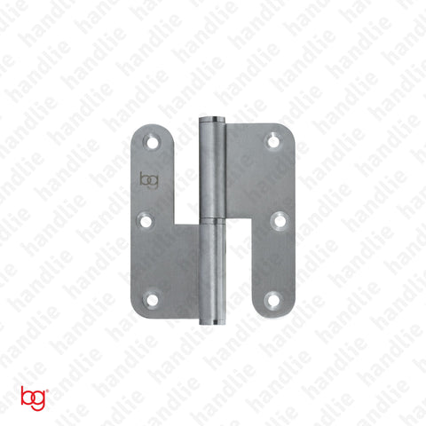 D.8315.AR - Hinge with round leaves - 3,5 Inches - Stainless Steel