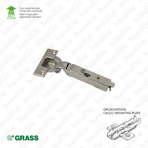 "D.GRA.F028 - ""TIOMOS"" hinge, 110º, with Soft-Close - 4D Adjustment 