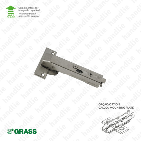 "D.GRA.F028.138.900 - ""TIOMOS"" hinge, +90º / 110º - With soft-close - 4D Adjustment 