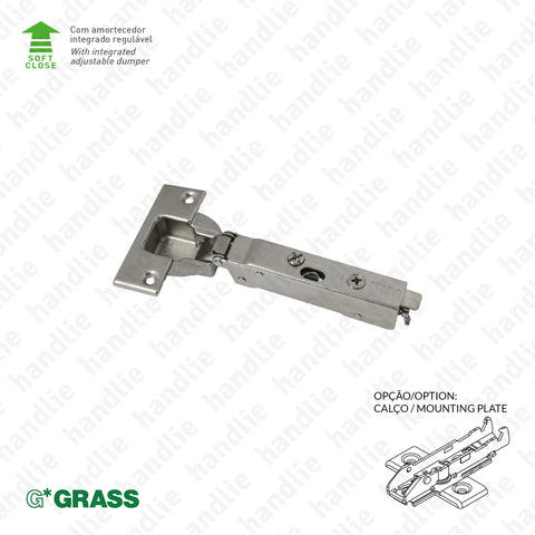 "D.GRA.F028.138.932 - ""TIOMOS"" hinge, 95º - With soft-close - 4D Adjustment 