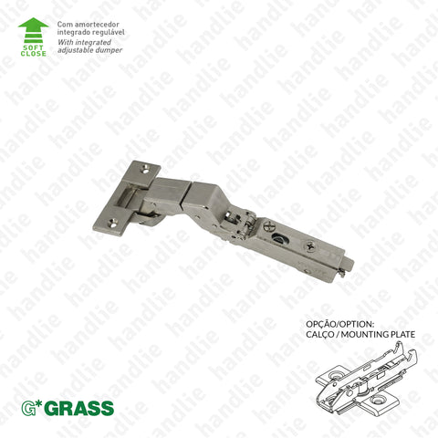 "D.GRA.F029.140.334 - ""TIOMOS"" M9 hinge, 110º - With soft-close - 4D Adjustment 