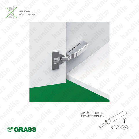 "D.GRA.F046 - ""TIOMOS"" hinge, 110º - Without Spring - 4D Adjustment 