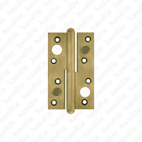 DS.408 - Security hinge 125x74 - BRASS