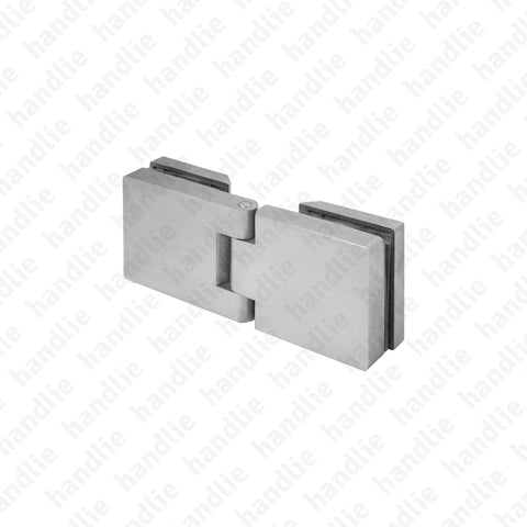 DV.53.03.039 - Glass / glass hinge - Stainless Steel