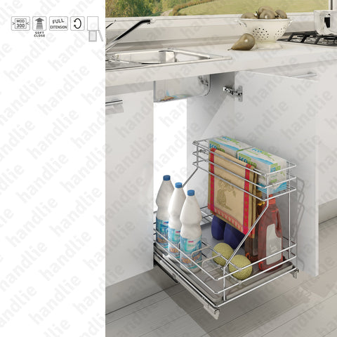 EC.060.G - Multipurpose base pull-out for bottles / detergents with slides and soft-close