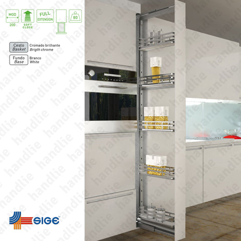 EC.258.IP - Multipurpose narrow larder with 5 baskets