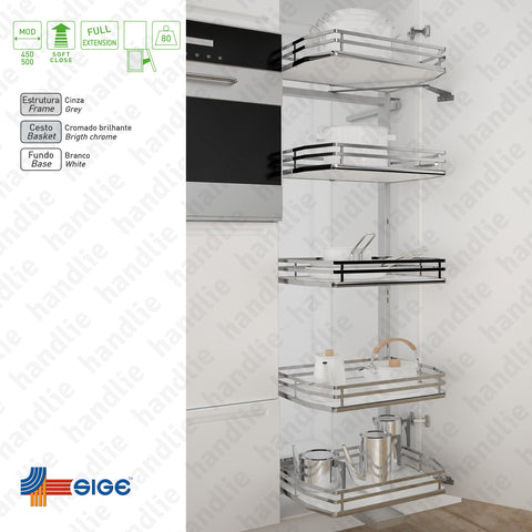 KIT EC.295.IP - Multipurpose larder with 5 baskets