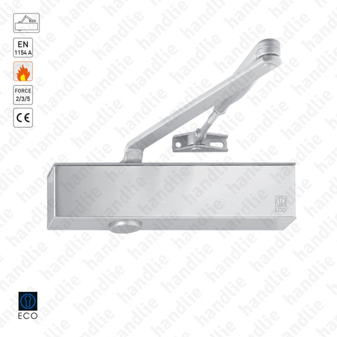 TS-20 - Overhead door closer with link arm - Frequent use - ECO Newton - Force 2/3/5 - 100Kg