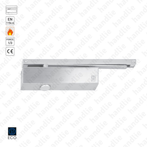 TS-31 - Overhead door closer with guide rail - Frequent use - ECO Newton - Force 1/3 - 60Kg