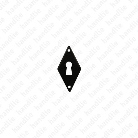 ENT.8414.57 - Furniture escutcheon - Matt Black