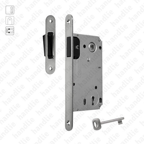 F.114.91.01.R - Magnetic mortise lock - With key