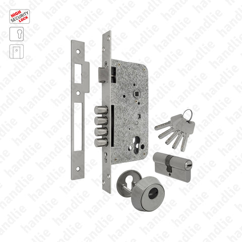 F.2060.S - Security mortise lock for euro cylinder