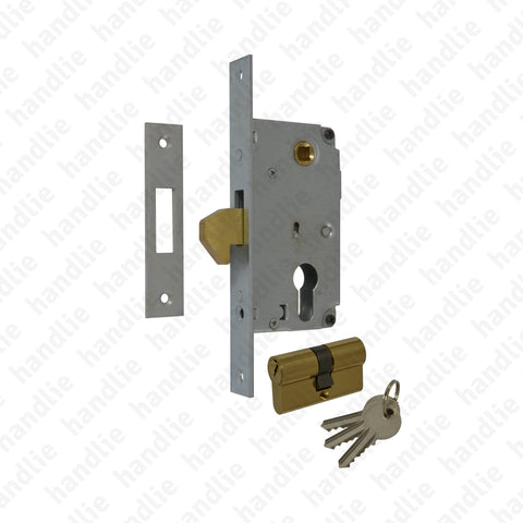 F.447P.4.03 - Mortise lock with strong oscillating hook for euro cylinder