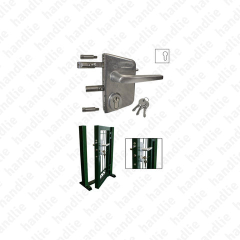 F.477.1.03 - Lock with adjustable latch and deadbolt - Stainless