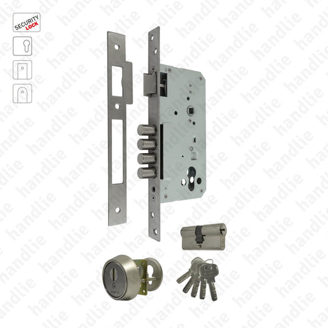 F.510.1.03 - Security mortise lock for euro cylinder