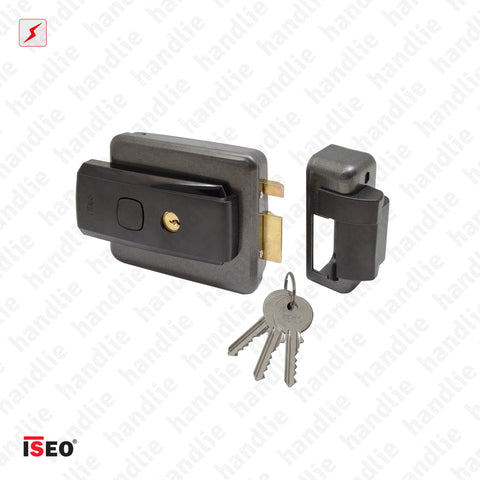 F.52N - MULTIFUNCTIONAL Electric rim lock - KEY/KEY - KEY/BUTTON - KEY/KEY+BUTTON