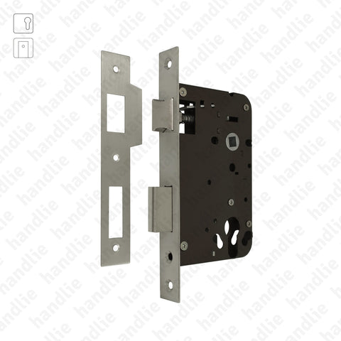 F.724.1.03 - Mortise lock for euro cylinder - Stainless steel