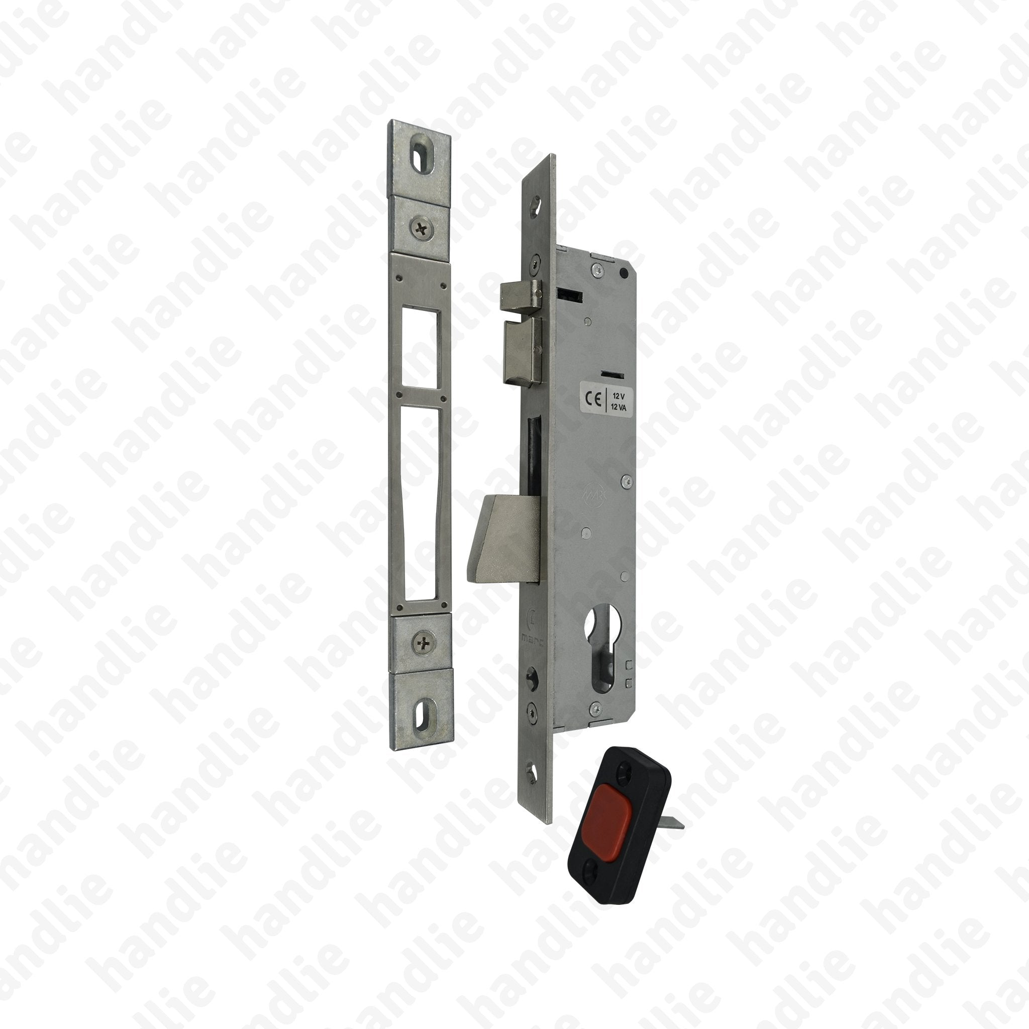 F 733 3 03 - Electric mortise lock for euro cylinder with rotating deadbolt
