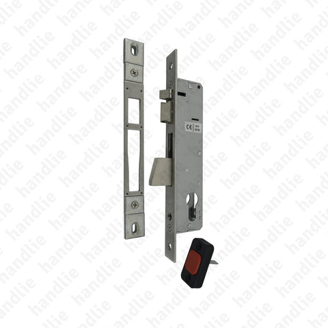F.733.3.03 - Electric mortise lock for euro cylinder with rotating deadbolt