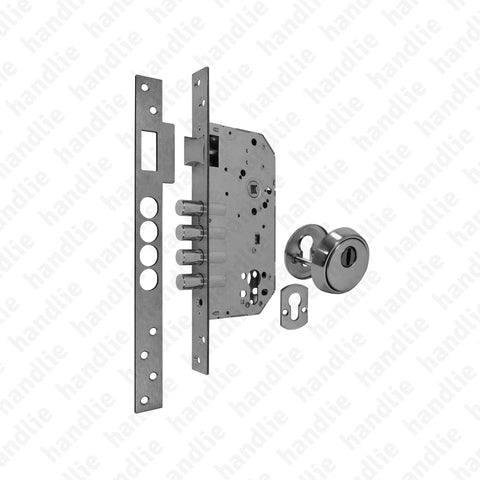 F.750.1.03 - Security mortise lock (1 locking point) for euro cylinder - STAINLESS STEEL