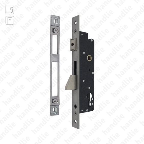F.771.3.03 - Mortise lock for euro cylinder with rotating deadbolt - Stainless Steel