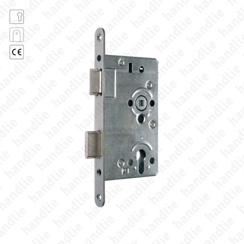 F.850.1.03.R - Mortise lock for euro cylinder - STAINLESS STEEL