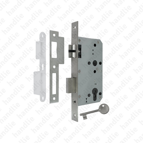 F.880.1.01 - Mortise lock with key - Stainless Steel