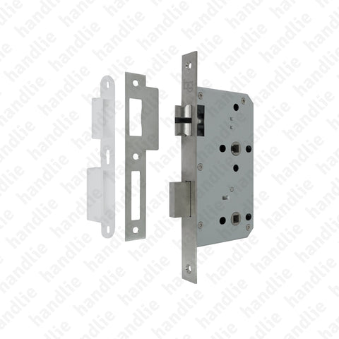 F.880.1.02 - Bathroom mortise lock - Stainless steel