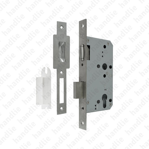 F.880.5.03 With Roller- Mortise lock Euro Cylinder - Stainless Steel