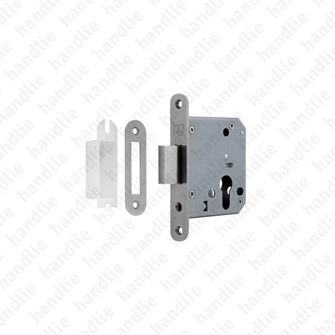 F.892.6.03.R - Mortise lock Euro Cylinder - Stainless Steel