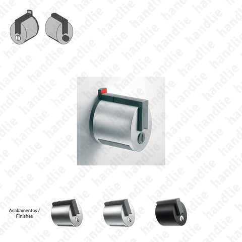 F.F12V - Premi Apri FORMA Series - Bathroom Cylindrical Lock (Emergency Release / Button) - For glass