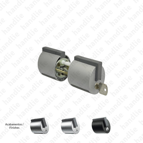 F.F13V - Premi Apri FORMA Series - Cylindrical Lock Key / Button - For glass