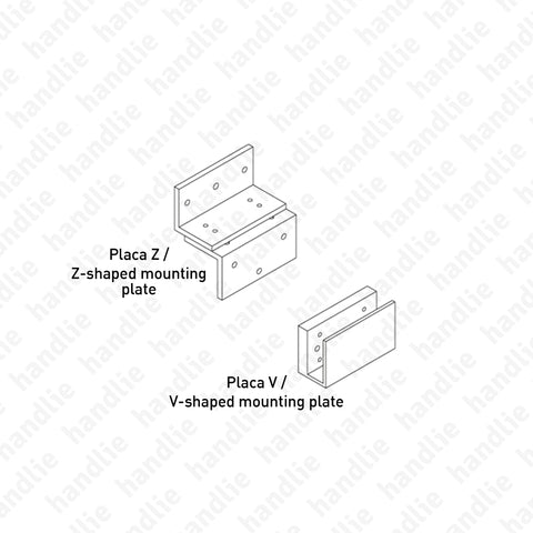 F.MEX - Mounting plates for electromagnetic lock