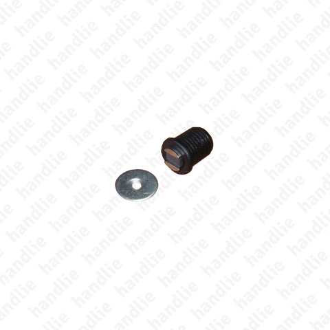 FX.7209 - Flush round magnetic catch - BLACK