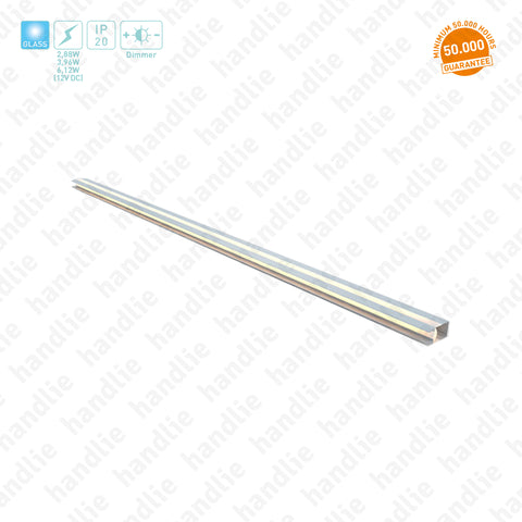 IL.105 -  Profile with LED for GLASS shelves / 12V