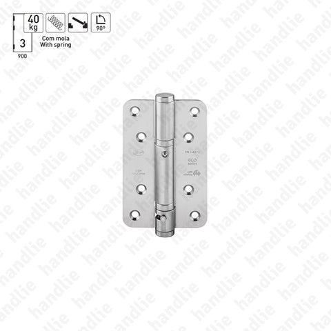 IN.05.040 - Spring hinges with hold open at 90º - Stainless Steel