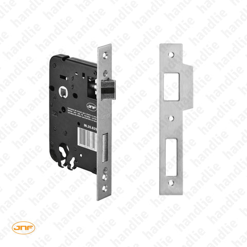 IN.20.825 - Mortise lock for euro cylinder - Square faceplate - Stainless Steel