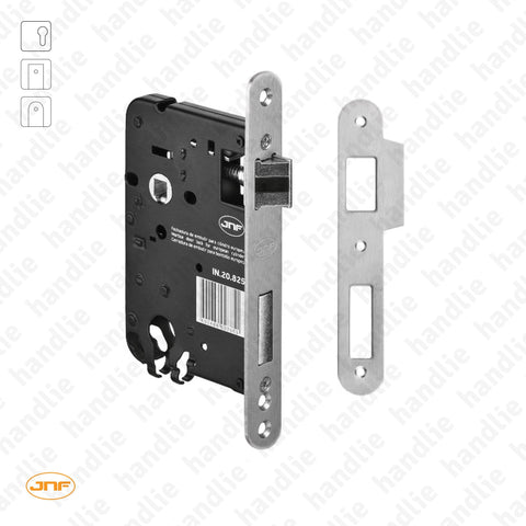 IN.20.825.R - Mortise lock for euro cylinder - Round faceplate - Stainless Steel