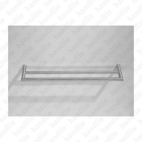 IN.42.144.D ÂNGULO Series - Double Towel Rail - 500mm - Stainless Steel