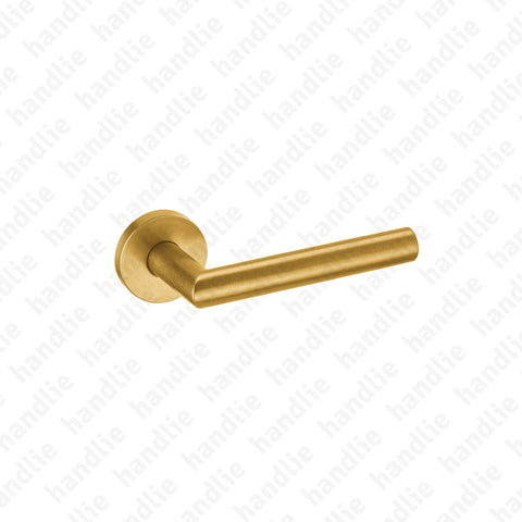 IN.00.030.RG - Tubular Lever Handle - RAW GOLD