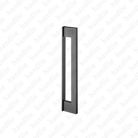 IN.07.432 SLIM - TITANIUM - Pull handle for door - Stainless Steel