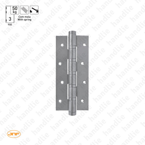 IN.05.656 - Single action spring hinge 180mm - Stainless Steel