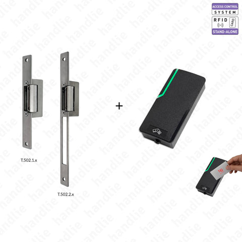 KIT CA.6800 + T.502 - Access Control with proximity card and electric strike