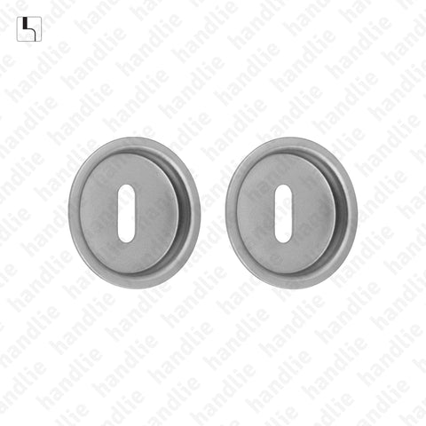 KIT CE.35.SD - Round flush handle kit with standard keyhole