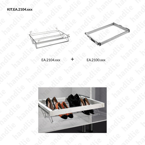 KIT EA.2104 - Shoe rack kit - SC SQUARE CLOSET