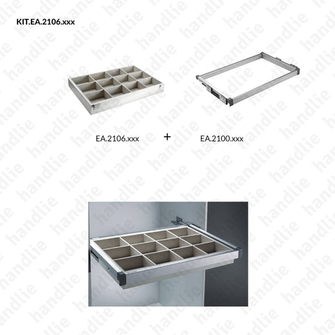 KIT EA.2106 - Accessories organizer kit - SC SQUARE CLOSET