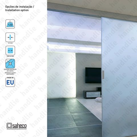 KIT SV-A121 - Excellence - Complete kit for passage sliding glass doors - Up to 120kg / 1000mm | SAHECO